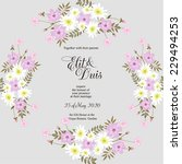 wedding invitation | Shutterstock .eps vector #229494253