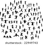 people silhouettes set fun ... | Shutterstock .eps vector #22949743
