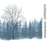 winter woodland landscape with...   Shutterstock . vector #229502473