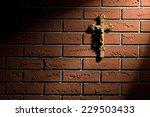 Crucifix With Jesus On Brick...