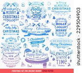 hand drawn christmas and new... | Shutterstock .eps vector #229504903