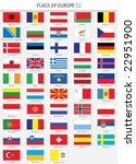 complete flags of european... | Shutterstock .eps vector #22951900