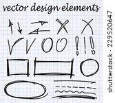 vector arrows. hand drawn... | Shutterstock .eps vector #229520647