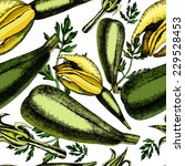 pattern of zucchini and... | Shutterstock .eps vector #229528453