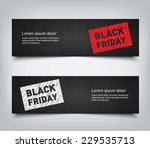 set of abstract black friday... | Shutterstock .eps vector #229535713
