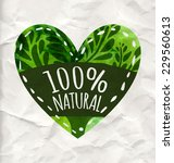 Green Eco Label With Text 100 ...