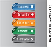 call action button free ribbon  ... | Shutterstock .eps vector #229568557