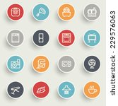 home appliances icons with... | Shutterstock .eps vector #229576063
