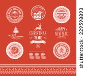 christmas decoration set of... | Shutterstock .eps vector #229598893