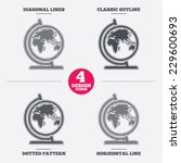 globe sign icon. world map... | Shutterstock .eps vector #229600693