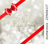 silver  christmas background... | Shutterstock .eps vector #229606117