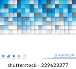 colorful square background.... | Shutterstock .eps vector #229623277