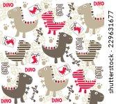 cute dinosaur in the jungle... | Shutterstock .eps vector #229631677