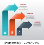 abstract infographics with... | Shutterstock .eps vector #229640443