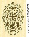ethnic tribal native... | Shutterstock .eps vector #229650877