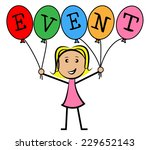 event balloons showing young... | Shutterstock . vector #229652143