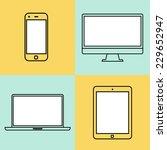laptop  tablet computer ... | Shutterstock .eps vector #229652947