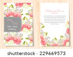 wedding invitation cards with... | Shutterstock . vector #229669573