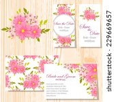 wedding invitation cards with... | Shutterstock .eps vector #229669657