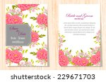 wedding invitation cards with... | Shutterstock .eps vector #229671703