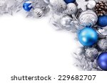 christmas border with... | Shutterstock . vector #229682707