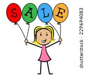 sale balloons meaning young... | Shutterstock . vector #229694083