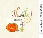 thanksgiving day celebration... | Shutterstock .eps vector #229695937