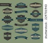 set of vintage label   quality... | Shutterstock . vector #229701943