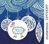 happy new year card vector... | Shutterstock .eps vector #229725397