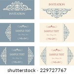 set of six business cards with... | Shutterstock .eps vector #229727767
