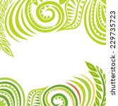 nature pattern card vector... | Shutterstock .eps vector #229735723
