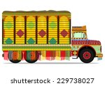 the old jingle truck. vector... | Shutterstock .eps vector #229738027