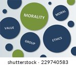 various blue and green circles... | Shutterstock . vector #229740583