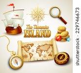 treasure island. vector icons...   Shutterstock .eps vector #229746673