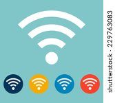 set of wi fi flat icons.... | Shutterstock .eps vector #229763083