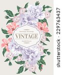 vintage greeting card with... | Shutterstock .eps vector #229763437