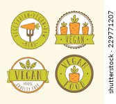 vegan badges. | Shutterstock .eps vector #229771207