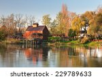 Watermill In River Small Danub...