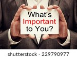 what is important to you   | Shutterstock . vector #229790977