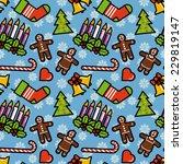 christmas symbols seamless...   Shutterstock .eps vector #229819147