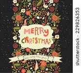 Bright Merry Christmas Card In...