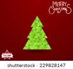 modern abstract christmas tree... | Shutterstock .eps vector #229828147