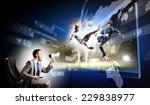 young man screaming in... | Shutterstock . vector #229838977