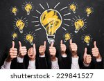 many thumbs up to ideas | Shutterstock . vector #229841527