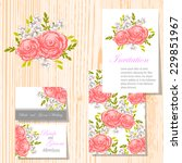 wedding invitation cards with... | Shutterstock .eps vector #229851967