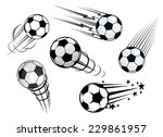 speeding footballs or soccer... | Shutterstock .eps vector #229861957