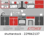 kitchen interior decor... | Shutterstock .eps vector #229862137