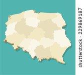 poland map vector three... | Shutterstock .eps vector #229869187