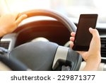 Woman Driver Use Her Cell Phon...