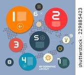 circle modern vector paper... | Shutterstock .eps vector #229885423